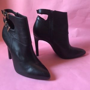Black Guess leather booties